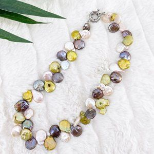 Jewelry - REAL PEARL NECKLACE MULTICOLOR